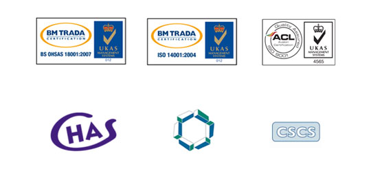 Accreditations - Woodgreen Construction Ltd