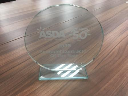Asda Remodel Contractor of the Year 2015