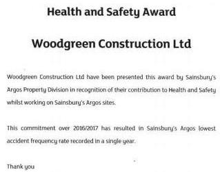 Sainsburys Argos H&S Award