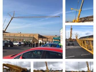 Asda Grimsby Crane Lift